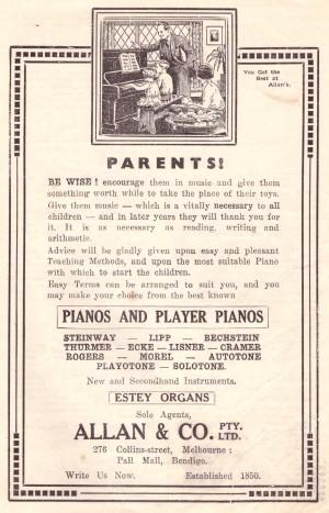 Allan's ad Leader 1933