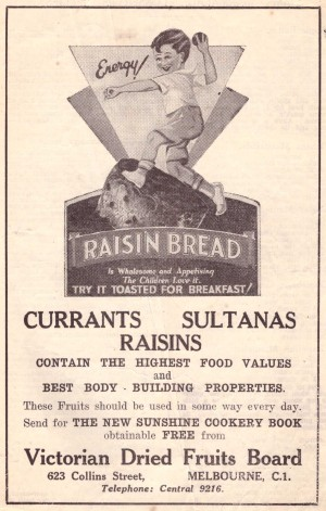 Dried fruit ad Leader 1933