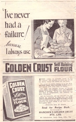 Golden Crust ad 2 Leader 1930s