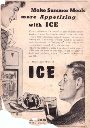 Ice ad Leader 1930s